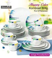 Kombiservice - 'Happy Color' - Geschirrset 30-teilig - Steinmann Porzellan