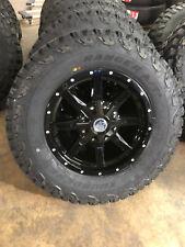 "17x8 Black A2 Off Road Wheels Rims 32"" 265/70R17 At Tires 6x5.5 Toyota Tacoma"