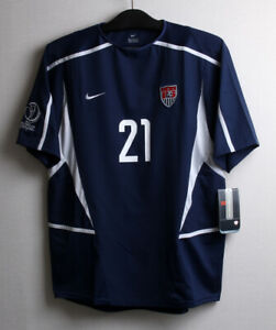 2002 USA Away No.21 DONOVAN S/S Player Issue 2002 WorldCup America sz M Jersey