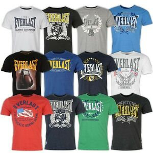 Everlast Herren T-Shirt Boxing Champion MMA Shirt Tee S M XL XXL 3XL 4XL Neu Fit