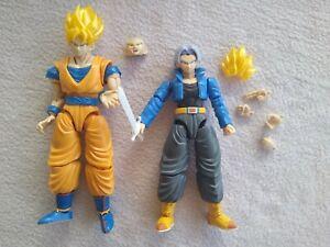 Dragon Ball Z Super Saiyan Trunks and Goku, Bandai models, figure rise figures