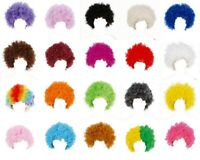 Mens Womens Afro Wig Party Clown Curly Disco Punk 60s 70s Old People Props
