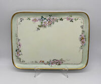 Antique 1915 Uno Favorite Bavaria Serving Platter Tray Hand Painted Signed