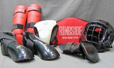 ADULT SIZE MARTIAL ARTS PROTECTIVE GEAR SET WITH BAG-MACHO, RINGSIDE, PRO FORCE