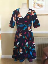 GREAT YOANA BARASCHI PATTERNED DRESS UK SIZE 10-12 NWOT
