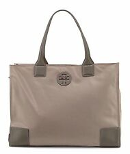 NWT TORY BURCH $225 FRENCH GRAY ELLA PACKABLE NYLON TOTE BAG