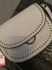 Vince Camuto Leather Studded Satchel Messenger Saddle  Bag ELYNA  BNWT £258