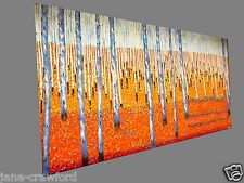 bush scrub 240cm by 120cm jane crawford aboriginal art coa Huge painting