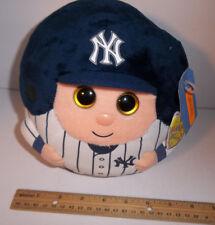 Brand New York Yankees M 8 in TY Beanie Baby Ballz Ball plush MLB Baseball Jeter