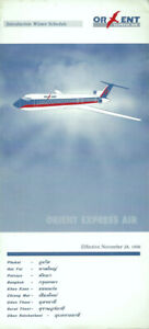 Orient Express Air system timetable 11/29/96