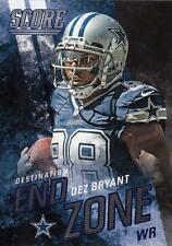 2014 Score Destination End Zone Blue #DE9 Dez Bryant Cowboys