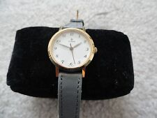 New Titan Quartz Ladies Watch with a Grey Leather Band