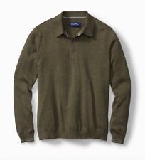 Tommy Bahama NWT Long Sleeve Polo Kinetic Heather Green T417087 MSRP $180