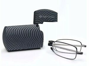 Fostergrants Sight Station Folding Reading Glasses +2.00 With Carbon Case 🇬🇧