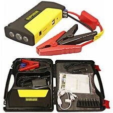 13800mAh Car Emergency Jump Starter Battery Booster with Safety Hammer SOS Light