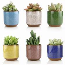 6pcs 2.5 Inch Ceramic Succulent Planter Pots- Small Ice Crack Succulent Pots