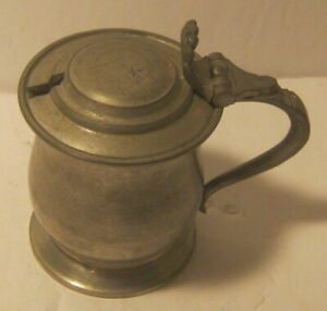 James Yates Small Pewter Lidded Tanker Condiment Vessel EXCELLENT!!!!