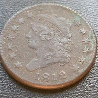 1812 Large Cent Classic Head One Cent 1c Better Grade VF +  #23944