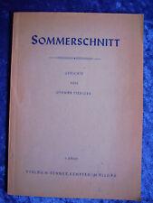 """""""Sommerschnitt – Gedichte (1. Band)"""" von Othmar Fiebiger (1951)"""