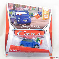 Disney Pixar Cars 2 Alberto blue Fiat - Race Fans collection #9 of 9 by Mattel