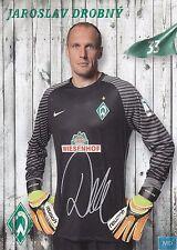Jaroslav Drobny (33) + Werder Bremen + Saison 2016/2017 + Autogrammkarte