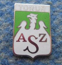 AZS TORUN POLAND BASKETBALL ROWING CLUB BIG SILVER VERSION ENAMEL PIN BADGE