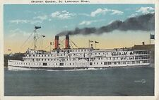 Canada Steamship Lines Steamer S.S. QUEBEC QC Canada 1915-30 Valentine Postcard