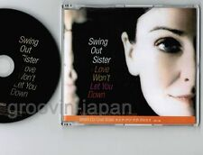 "Promo-only! SWING OUT SISTER Love Won't Let You Down JAPAN 5"" CD SIC-1147 FreeSH"