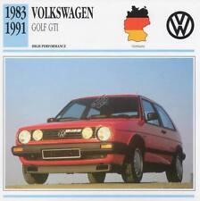 1983-1991 VOLKSWAGEN VW GOLF GTI Classic Car Photo/Info Maxi Card