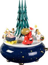 Wendt & Kuhn German Wooden Music Box Christmas Procession Santa and Angels