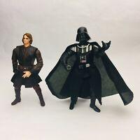 """ANAKIN SKYWALKER #28 & DARTH VADER #11 Star Wars Revenge Sith ROTS 3.75"""" Figures"""