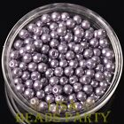 New 300pcs 6mm Round Czech Glass Pearl Loose Spacer Beads Purple