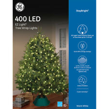 GE StayBright Christmas Tree Net Lights 400 Warm White LED Indoor/Outdoor  EZ