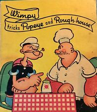 Vintage 1937 #884 Whitman Book Wimpy Tricks Popeye & Rough-house King Features