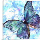 ARTCANVAS Blue Butterfly Wings Insect Canvas Art Print