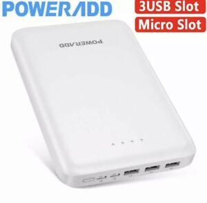 Poweradd Pilot Pro3 PowerBank 30000mAh Portable Charger 3Ports USB Fast Charging