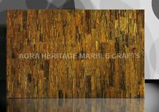 4'x2' Tiger Eye Gold Inlaid Marble Living Room Dining Table Top Patio Decor E234