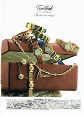 Publicité Advertising  0817  1993  Tabbah  joaillier montres bijoux