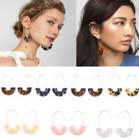 Fashion Womens Leopard Tortoise Acrylic Resin Circle Hoop Earrings Jewelry Gifts