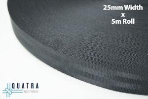 Seatbelt Weave Webbing 25mm width  x 5m Length  -  FREE POSTAGE