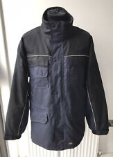 Dickies Industry Mens Reflective Seam Two Tone Work Jacket Blue Black Size Large