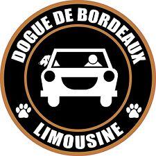 """Limousine Dogue De Bordeaux 5"""" Dog Sticker"""