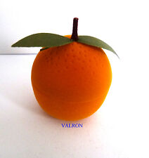 CUTE ORANGE FRUIT NOVELTY RING / EARRING GIFT BOX
