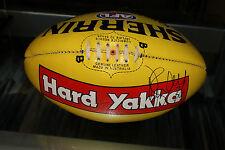 COLLINGWOOD - DANE SWAN HAND SIGNED 2010 SHERRIN FOOTBALL (SPONSOR : HARD YAKKA)