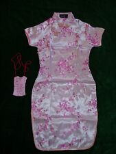 NUEVO Niña Satén De Flores Chinos VESTIDO NEGRO rosa pastel rojo fucsia 9m-16