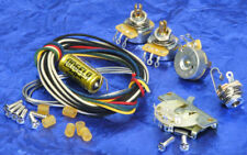 Fender Strat 5-Way Switch + Angela/Jensen PiO Cap Premium Wiring Kit Pots + Jack
