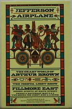 JEFFERSON AIRPLANE Fillmore East May 1968 CONCERT POSTCARD AOR 2.92 MINT!