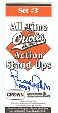 Brooks Robinson Autograph Crown All Time Action Stand Ups Set 3 Boog Paul Blair
