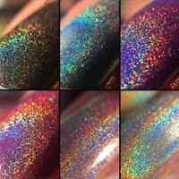 1Box Laser Rainbow Chrome Pigments Holographic Glitter Powder Dust Nail Art Hot