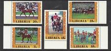 LIBERIA - 784-787;C216 - MNH -1977 - EQUESTRIAN GOLD MEDALS MONTREAL OLYMPICS